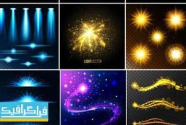 دانلود وکتور افکت های نورانی رنگارنگ – شماره 2