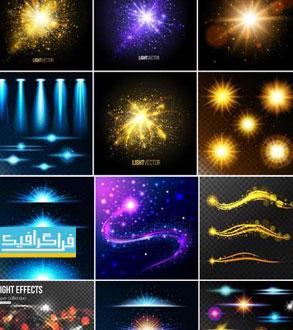 دانلود وکتور افکت های نورانی رنگارنگ - شماره 2