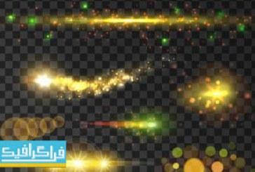 دانلود وکتور افکت های نورانی رنگارنگ
