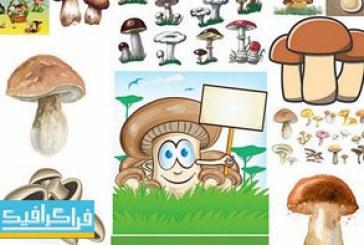 دانلود وکتور طرح های گرافیکی و کارتونی قارچ