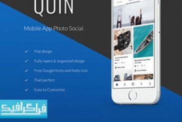 دانلود قالب psd برنامه موبایل شبکه اجتماعی عکس