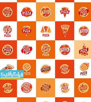 دانلود لوگو های وکتور لایه باز پیتزا و هات داگ