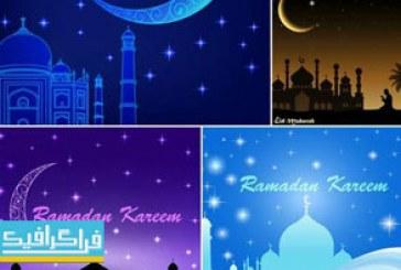 دانلود وکتور طرح های ماه مبارک رمضان – شماره 10
