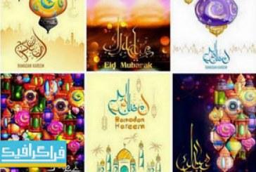 دانلود وکتور طرح های ماه مبارک رمضان – شماره 12