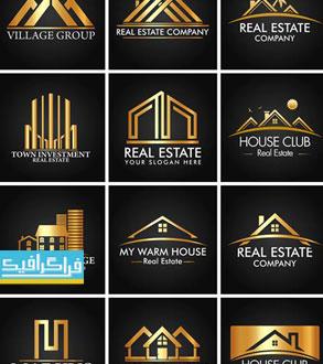 دانلود لوگو های لایه باز وکتور مشاور املاک و ساختمان - طلایی
