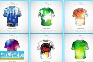 دانلود وکتور طرح های تی شرت مردانه