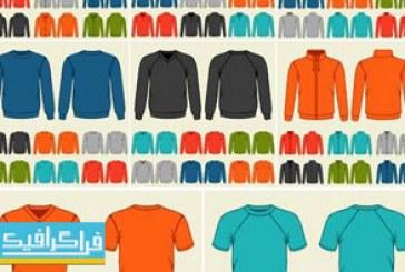 دانلود وکتور قالب های تی شرت – بلوز – سویشرت