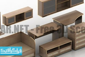 دانلود مدل سه بعدی سرویس چوب – رایگان