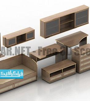 دانلود مدل سه بعدی سرویس چوب - رایگان