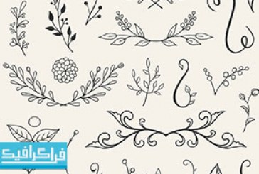 دانلود فایل لایه باز فتوشاپ 110 طرح گل ترسیمی – رایگان