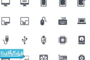 دانلود 20 آیکون کامپیوتر وکتور – رایگان