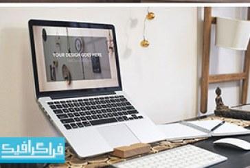 دانلود ماک آپ فتوشاپ لپ تاپ اپل مک بوک – رایگان