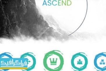 دانلود قالب پاورپوینت حرفه ای و کامل Ascend