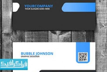 دانلود کارت ویزیت لایه باز فتوشاپ سیاه و آبی – شماره 2 – رایگان