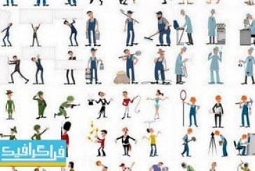 دانلود وکتور مردم کارتونی در شغل های مختلف – شماره 2
