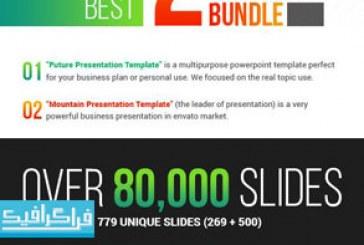 مجموعه 2 قالب پاورپوینت حرفه ای و کامل با بیش از 80000 اسلاید – محصول پستی