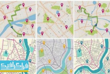 دانلود وکتور نقشه های شهر و جهت یابی