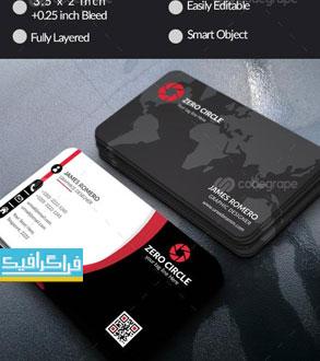 دانلود کارت ویزیت لایه باز فتوشاپ شرکتی - شماره 113