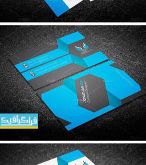 دانلود کارت ویزیت لایه باز وکتور شرکتی - شماره 123