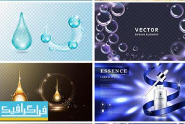 دانلود وکتور طرح تبلیغاتی محصولات آرایشی و بهداشتی – شماره 1