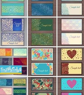 دانلود کارت ویزیت وکتور طرح های گلدار تزئینی - شماره 2