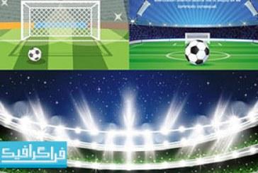 دانلود وکتور طرح های استادیوم فوتبال – رایگان