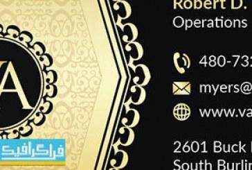 دانلود کارت ویزیت لایه باز فتوشاپ سیاه و طلایی