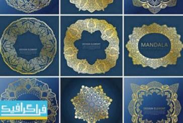دانلود وکتور قاب های طلایی تزئینی – Golden Frames