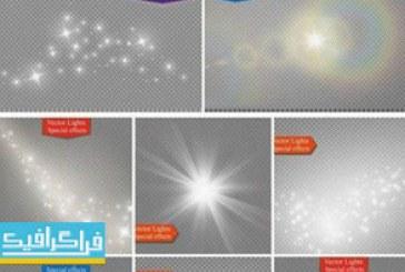 دانلود وکتور افکت های نور درخشان – شماره 5