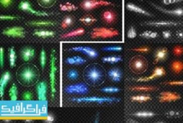 دانلود وکتور افکت های نورانی رنگارنگ – شماره 3