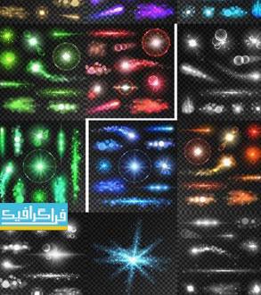 دانلود وکتور افکت های نورانی رنگارنگ - شماره 3