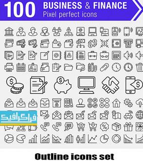 دانلود آیکون های خطی وکتور لایه باز - Outline Icons