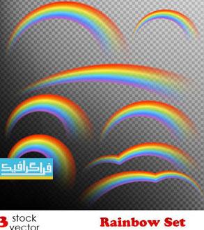 دانلود وکتور طرح های رنگین کمان - Rainbow Vectors