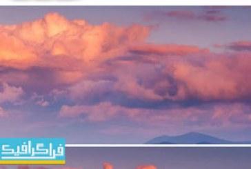 دانلود ویدیو فوتیج غروب خورشید و ابر