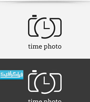 دانلود لوگو لایه باز وکتور دوربین و زمان - رایگان