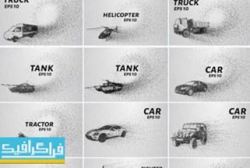 دانلود وکتور وسایل نقلیه – استایل نقطه