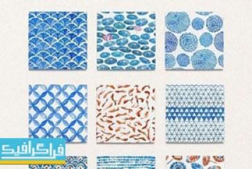 دانلود پترن شکل های مختلف آبرنگ – شماره 3