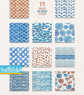 دانلود پترن شکل های مختلف آبرنگ - شماره 3
