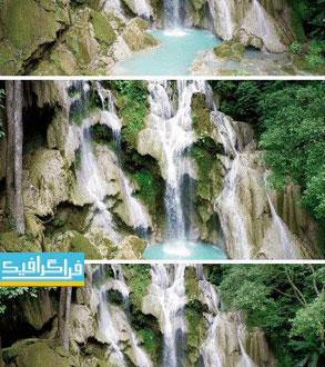 دانلود ویدیو فوتیج آبشار - فیلمبرداری از بالا