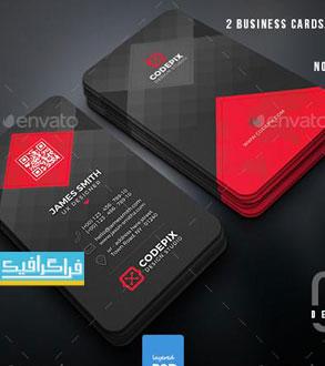 دانلود 2 کارت ویزیت لایه باز فتوشاپ شرکتی - شماره 11