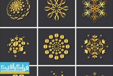 دانلود لوگو های طلایی انتزاعی – لایه باز وکتور