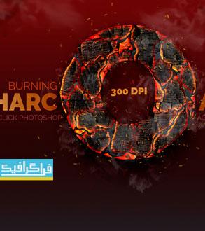 دانلود اکشن فتوشاپ افکت زغال در حال سوختن Burning Charcoal
