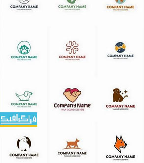 دانلود لوگو های سگ خانگی - لایه باز وکتور