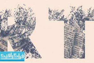 آموزش فتوشاپ فارسی ساخت افکت متن دابل اکسپوژر