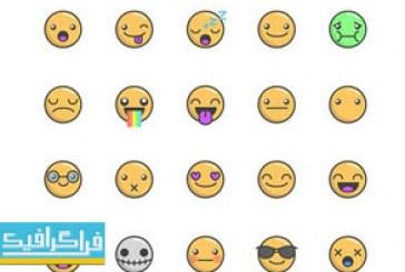 دانلود وکتور استیکر های شکلک – Emoticon Stickers