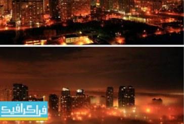 دانلود ویدیو فوتیج شهر مه گرفته – شب