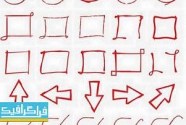 دانلود وکتور اشکال هندسی ترسیمی با دست