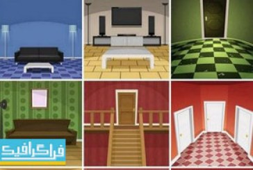 دانلود وکتور طرح های نمای داخلی خانه – فلت