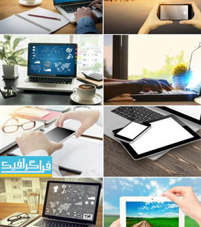 دانلود تصاویر استوک لپ تاپ - موبایل - تبلت