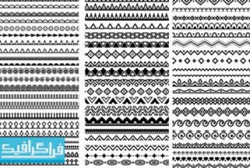دانلود وکتور اشکال تقسیم کننده – طرح تزئینی – رایگان